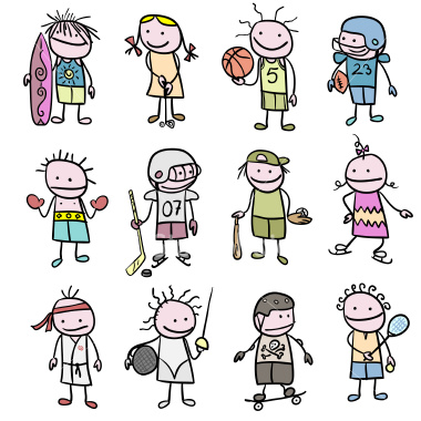 stick-figure-children-sports