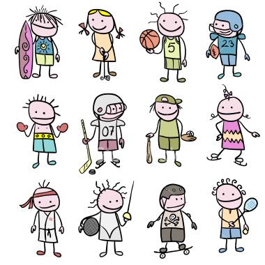 stick-figure-children-sports