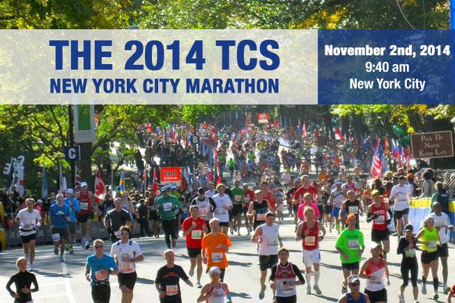The TCS New York City Marathon is Sunday Nov2nd.