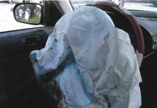 Exploded-Takata-airbag-in-a-Honda-car
